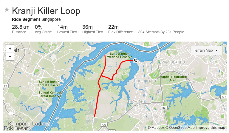 Cycling Singapore - The Killer Loop