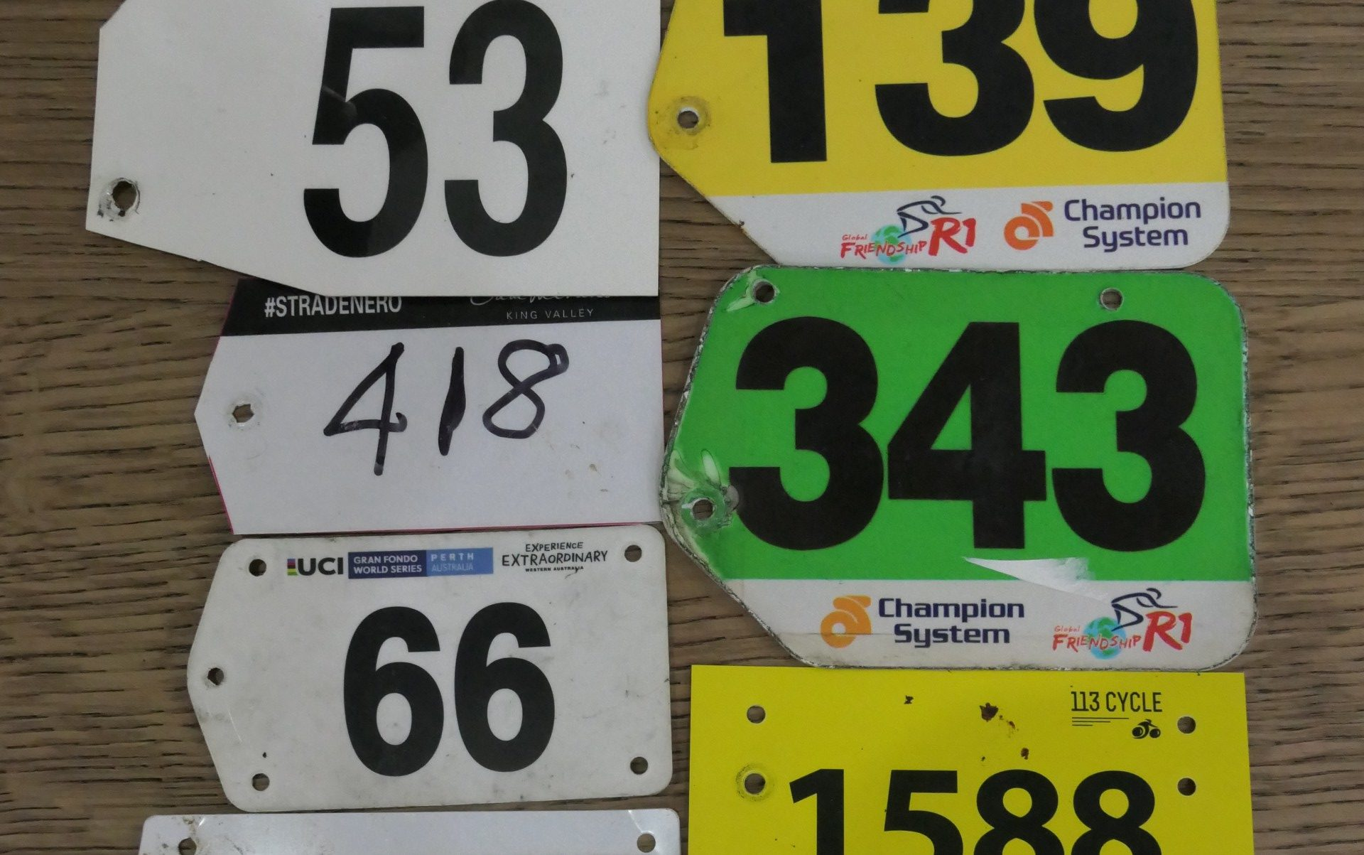 Cycle Race Numbers