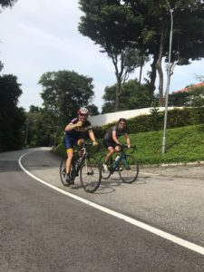 Everesting Singapore - Chas and I in good spirits - Iron Mike Musing